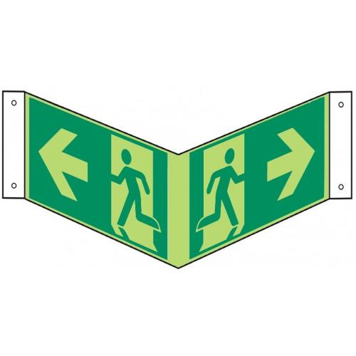 Nasenschild: Rettungsweg - E001-E002