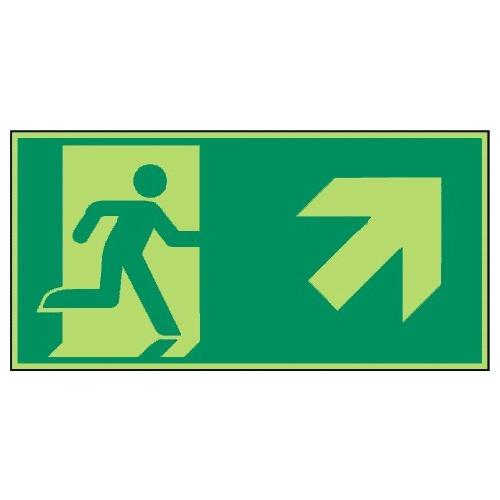 Rettungsweg, rechts aufwärts - E002