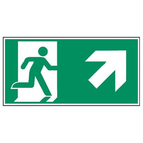 Megaschild: Rettungsweg, rechts aufwärts - E002