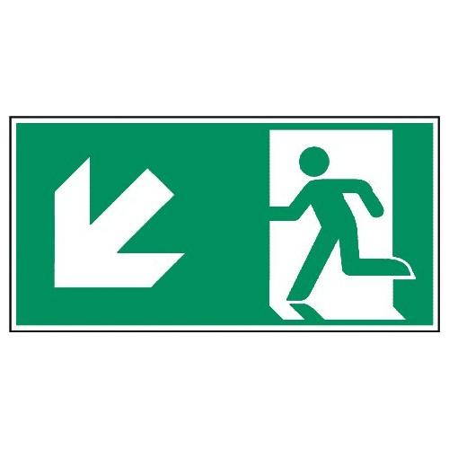 Rettungsweg, links abwärts - E001