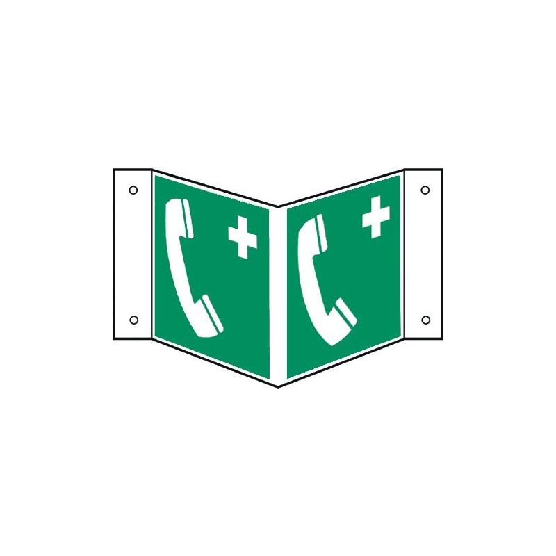 Nasenschild: Notruftelefon - E004