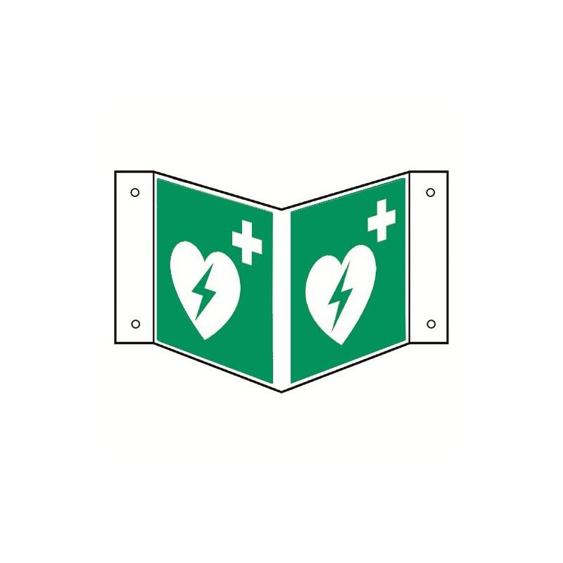 Nasenschild: Automatisierter Externer Defibrillator (AED) - E010
