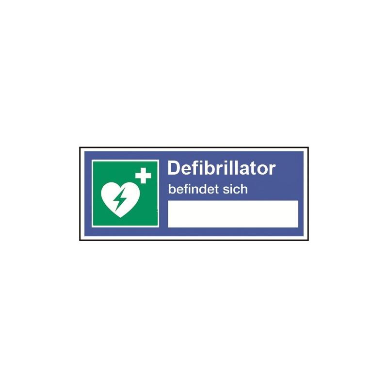 Defibrillator befindet sich... (zum Selbstbeschriften)
