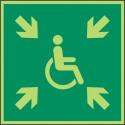 Sammelplatz (kurzzeitig) für Menschen mit Behinderung - DIN EN ISO 7010 - E024