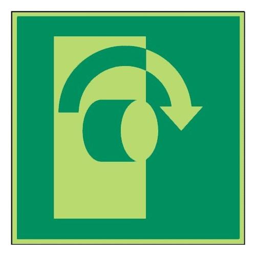 Öffnung durch Rechtsdrehung - DIN EN ISO 7010 - E019