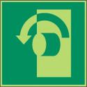Öffnung durch Linksdrehung - DIN EN ISO 7010 - E018