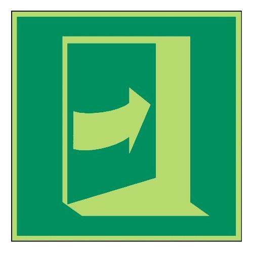 Öffnung durch Drücken rechts - DIN EN ISO 7010 - E023