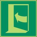 Öffnung durch Drücken links - DIN EN ISO 7010 - E022