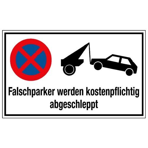 Falschparker werden kostenpflichtig abgeschleppt