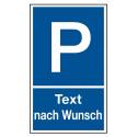 """Parkplatzkennzeichnung """"Wunschtext"""""""