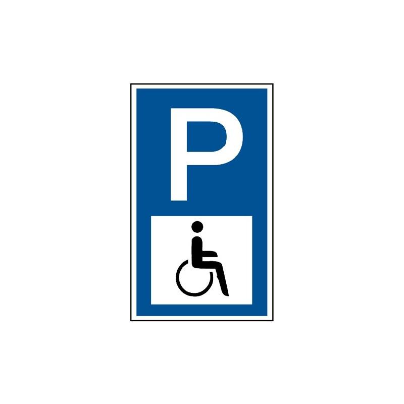 """Parkplatzkennzeichnung, Symbol """"Rollstuhlfahrer"""""""