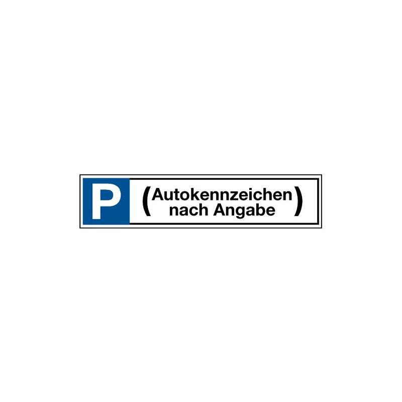 Stellplatzkennzeichnung (Autonummer nach Wunsch)