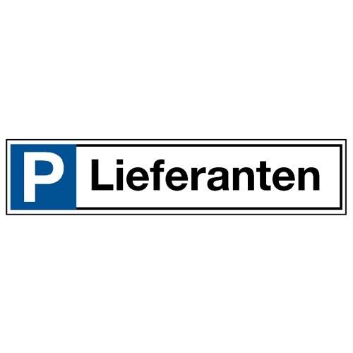 """Stellplatzkennzeichnung """"Lieferanten"""""""