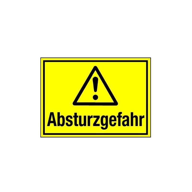 Absturzgefahr (mit Symbol W001)