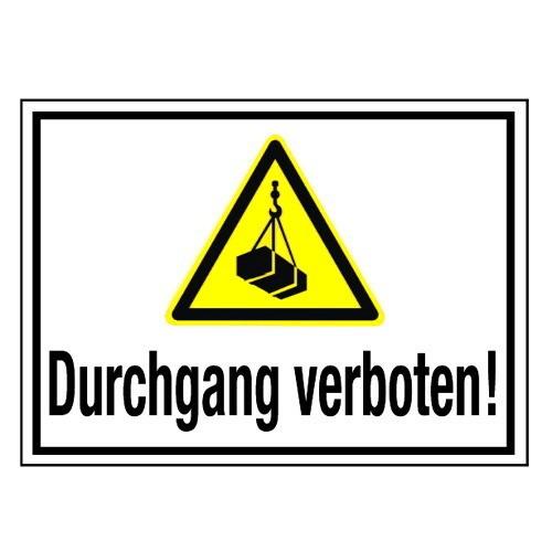 Durchgang verboten! (mit Symbol W015)