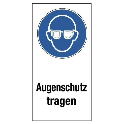 """Kombischild """"Augenschutz tragen"""" (mit Symbol M004)"""