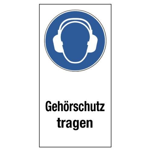 """Kombischild """"Gehörschutz tragen"""" (mit Symbol M003)"""