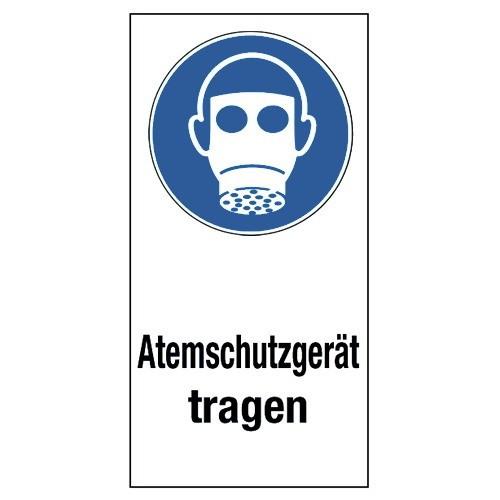"""Kombischild """"Atemschutzgerät tragen"""" (mit Symbol M017)"""
