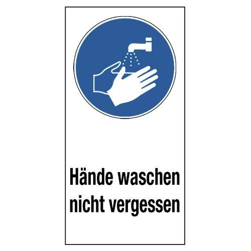 """Kombischild """"Hände waschen nicht vergessen"""" (mit Symbol M011)"""