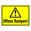 Offene Rampen! (mit Symbol W001)