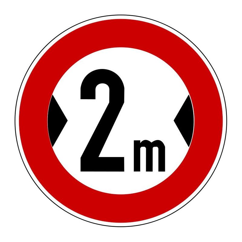 Verbot für Fahrzeuge über angegebene tatsächliche Breite, mit Wunschtext - 264