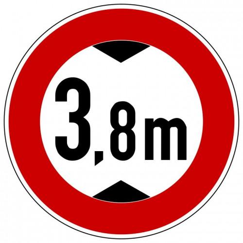 Verbot für Fahrzeuge über angegebene tatsächliche Höhe, mit Wunschtext - 265