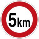 Zulässige Höchstgeschwindigkeit (5 km), oder Wunschtext