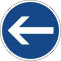 Vorgeschriebene Fahrtrichtung