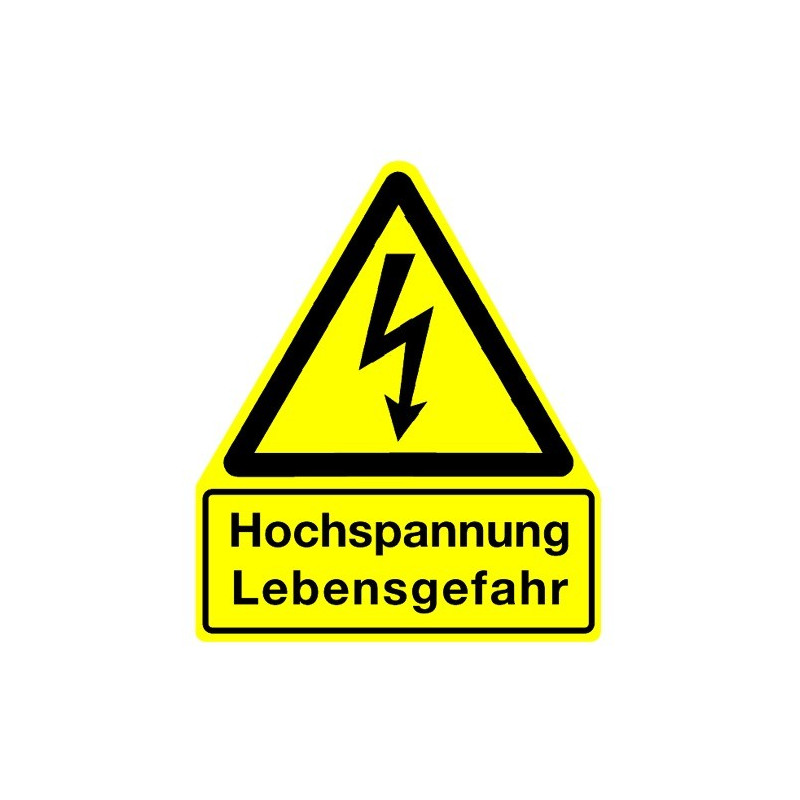 Hochspannung Lebensgefahr (mit Symbol W012)