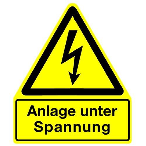 Anlage unter Spannung (mit Symbol W012)