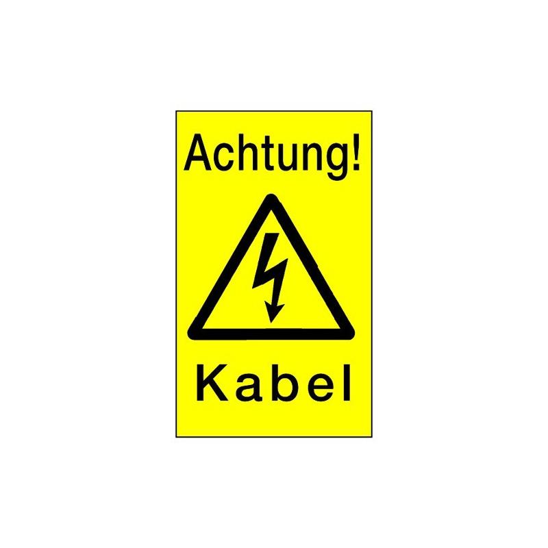 Hinweisschild Achtung! Kabel! (mit Symbol W012)