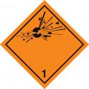 Gefahrgut-Aufkleber Klasse 1: Explosive Stoffe und Gegenstände