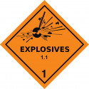 Gefahrgut-Aufkleber Klasse 1.1: Explosive Stoffe und Gegenstände