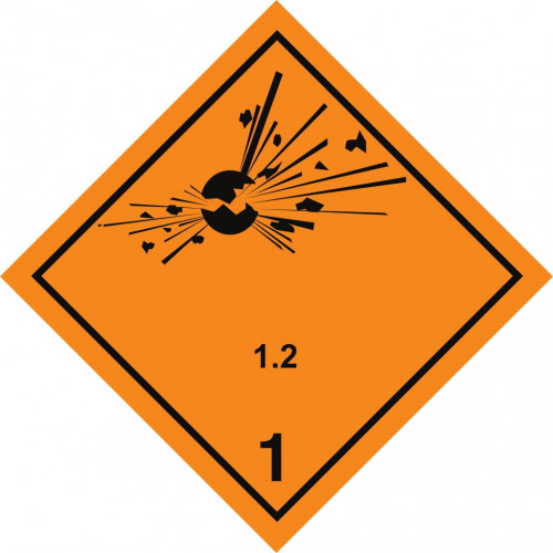 Gefahrgut-Aufkleber Klasse 1.2: Explosive Stoffe und Gegenstände