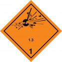 Gefahrgut-Aufkleber Klasse 1.3: Explosive Stoffe und Gegenstände