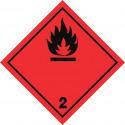 Gefahrgut-Aufkleber Klasse 2.1: Entzündbare Gase