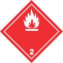 Gefahrgut-Aufkleber (weiß) Klasse 2.1: Entzündbare Gase
