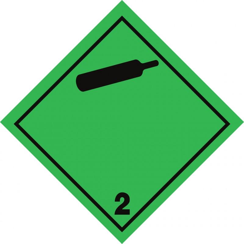 Gefahrgut-Aufkleber Klasse 2.2: Nicht entzündbare, nicht giftige Gase