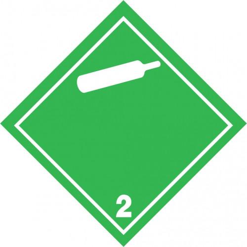 Gefahrgut-Aufkleber (weiß) Klasse 2.2: Nicht entzündbare, nicht giftige Gase