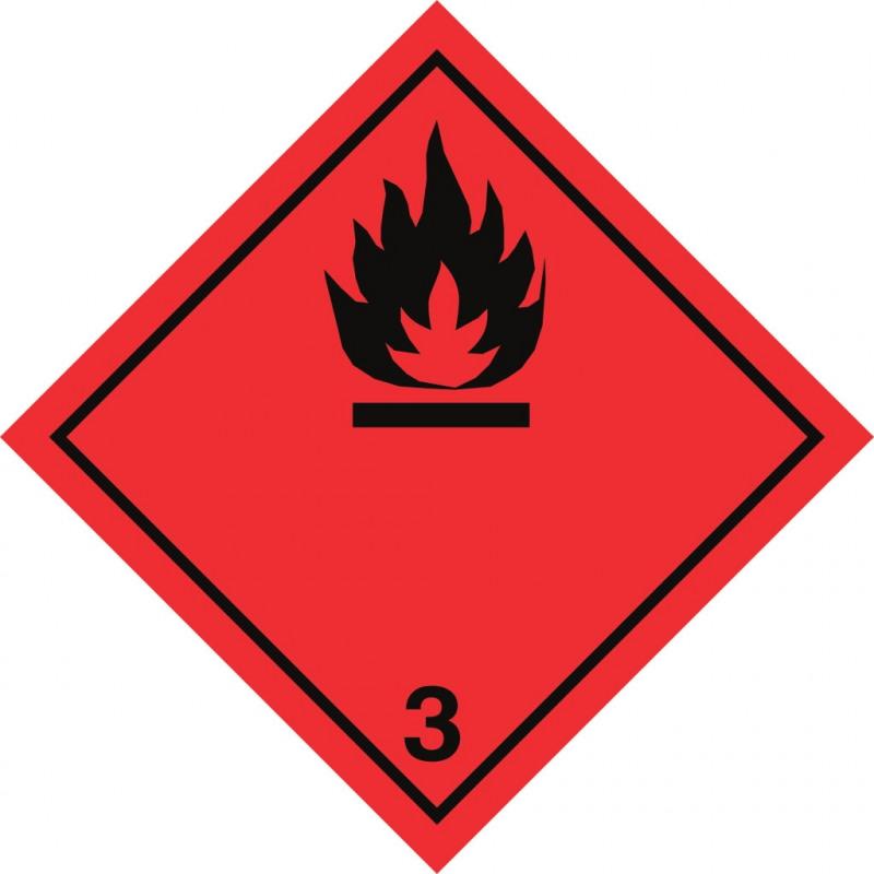 Gefahrgut-Aufkleber Klasse 3: Entzündbare flüssige Stoffe