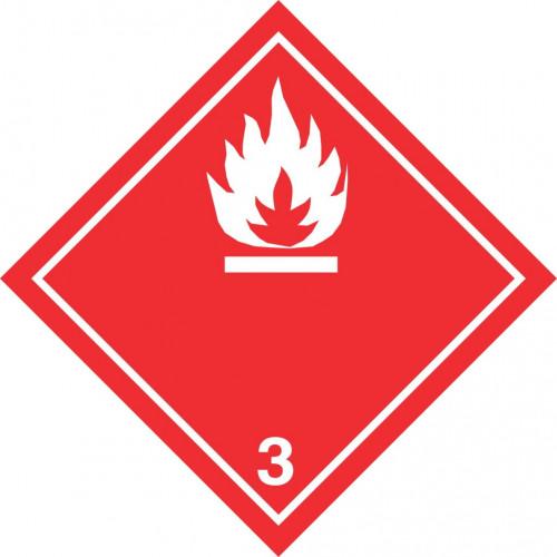 Gefahrgut-Aufkleber (weiß) Klasse 3: Entzündbare flüssige Stoffe