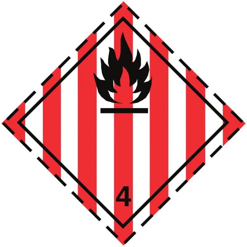 Gefahrgut-Aufkleber Klasse 4.1: Entzündbare feste Stoffe