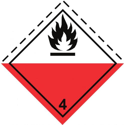 Gefahrgut-Aufkleber Klasse 4.2: Selbstentzündliche Stoffe