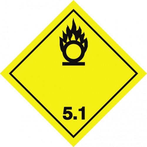 Gefahrgut-Aufkleber Klasse 5.1: Entzündend (oxidierend) wirkende Stoffe