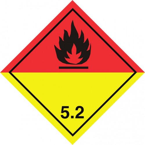 Gefahrgut-Aufkleber Klasse 5.2: Organische Peroxide