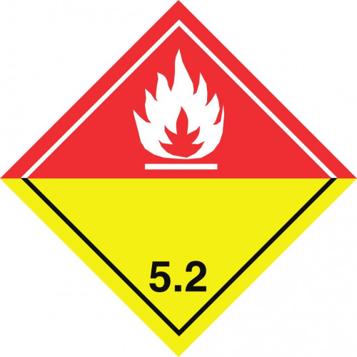Gefahrgut-Aufkleber (weiß) Klasse 5.2: Organische Peroxide