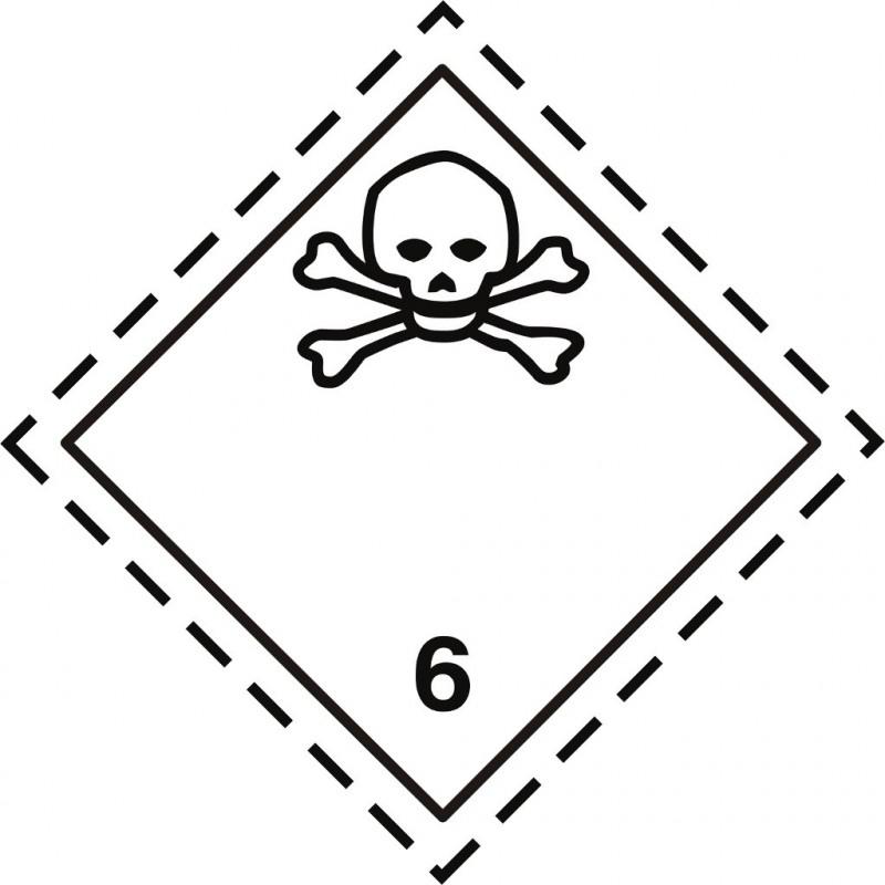 Gefahrgut-Aufkleber Klasse 6.1: Giftige Stoffe
