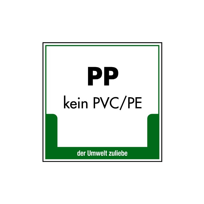 PP (kein PVC/PE)