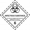 Gefahrgut-Aufkleber Klasse 6.2: Ansteckungsgefährliche Stoffe