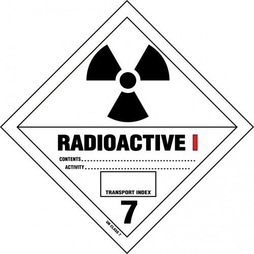 Gefahrgut-Aufkleber Klasse 7: Radioaktive Stoffe Kategorie I